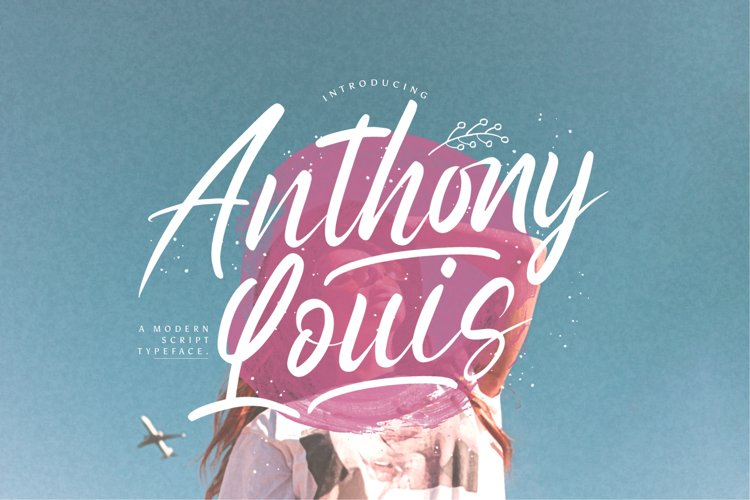 Anthony Louis - Modern Script Font example image 1