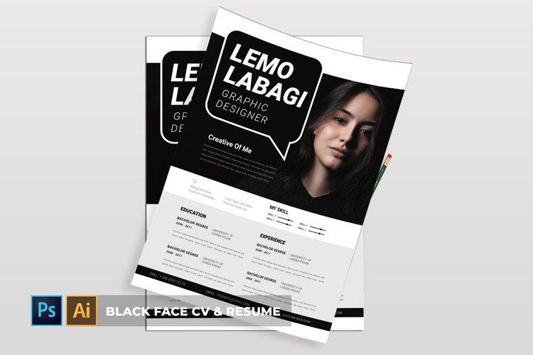 Black Face | CV & Resume example image 1