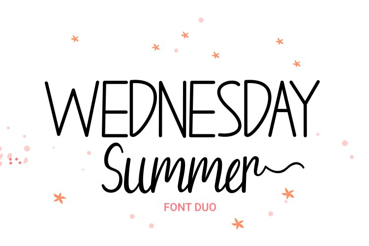 Wednesday Summer - Font Duo example image 1