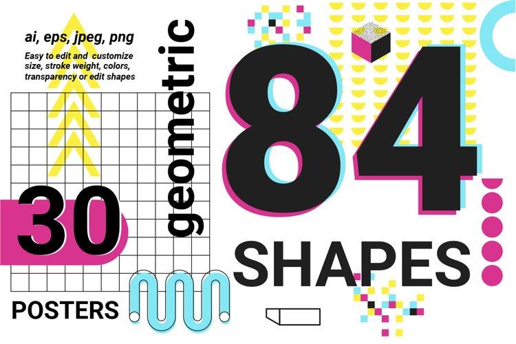 Neon geometric shape,poster,patten