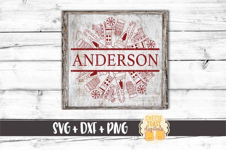 Christmas Fun Split Mandala - Holiday SVG PNG DXF Cut Files