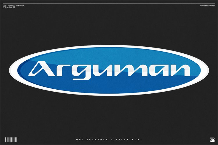 Arguman - modern display font example image 1