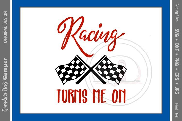Racing SVG, Racing Turns Me On example image 1