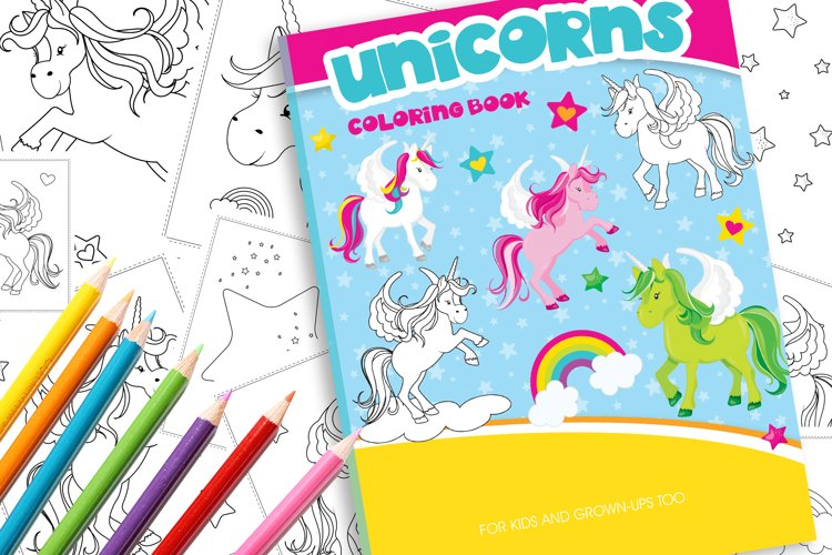Unicorn Coloring Book example image 1