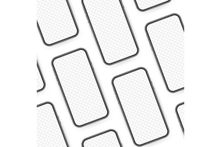 Smartphone mockup. Cellphone frame with blank display example image 1