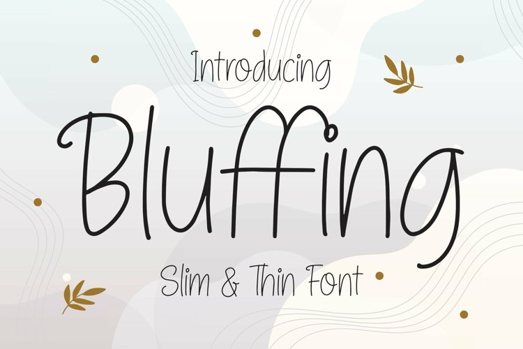 Web Font Bluffing - Slim & Thin Font example image 1