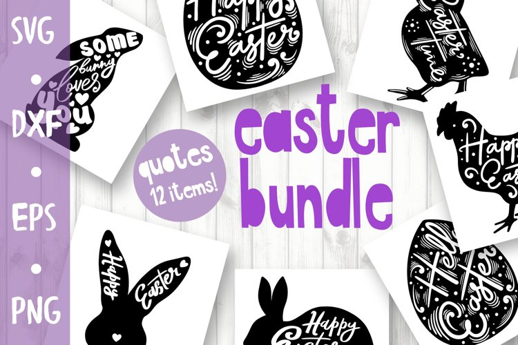 Craft Easter Bundle - quotes collection example image 1