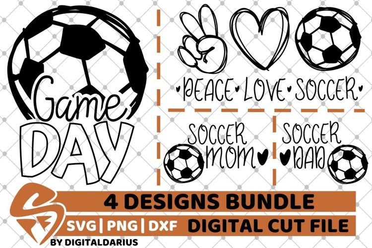 4x Soccer Designs Bundle svg, Soccer Mom svg, Boy svg, Dad example image 1