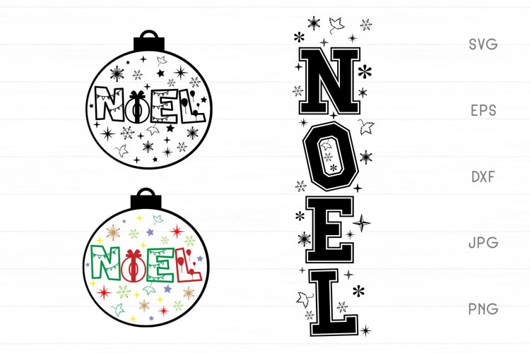 Noel SVG - Christmas SVG Sign example image 1