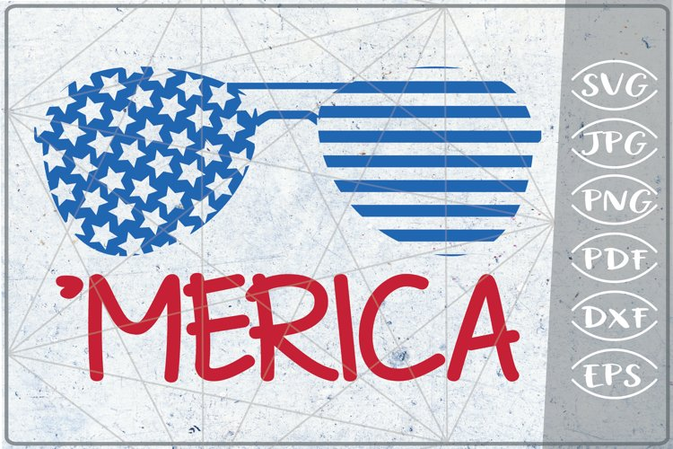 'Merica SVG 4th of July Independence Day Crafters America example image 1