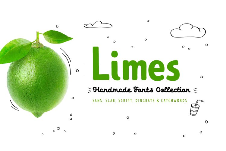 Limes—handmade fontfamily example image 1