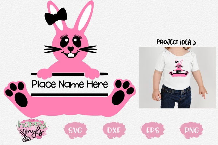 Personalize Bunny GIRL- An Easter SVG Design