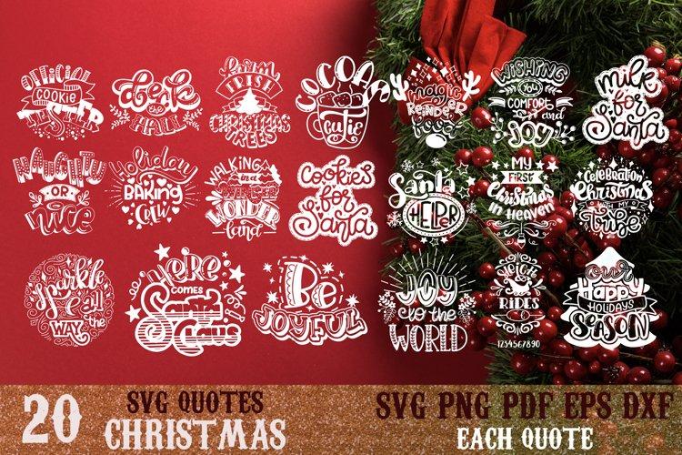 Christmas bundle svg Snowflakes svg Winter Santa quote vol 4 example image 1