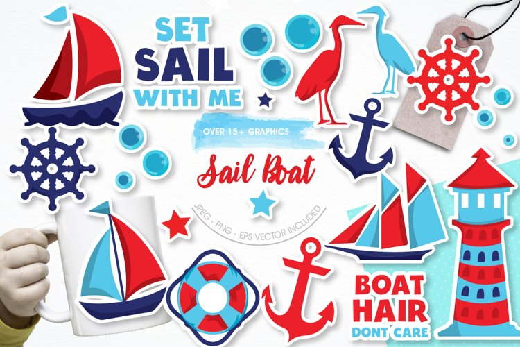 Sail Boat graphics and illustrations