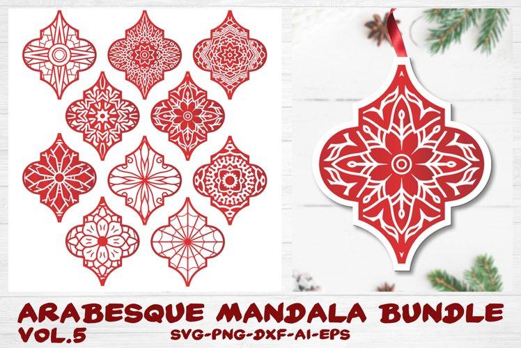 Arabesque Tile Ornament Bundle vol.5 - Christmas Mandala SVG