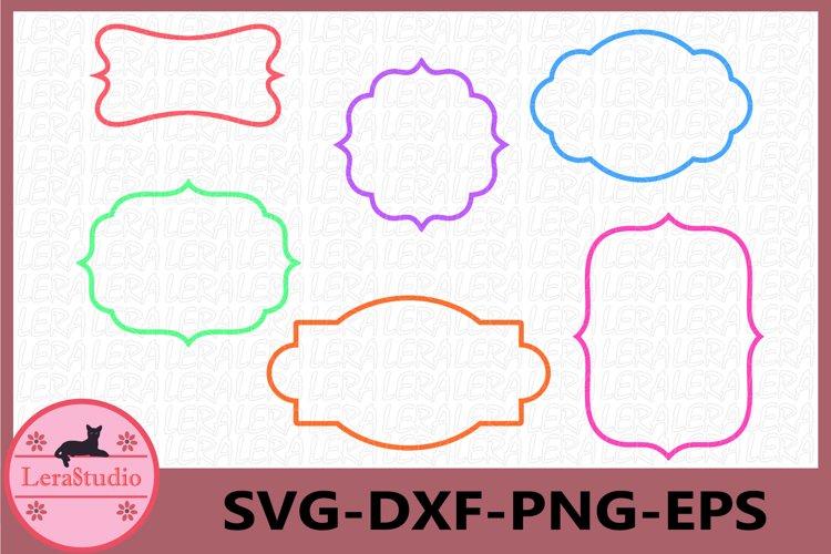 Frame Svg, Monogram Frames SVG, Monogram svg, Monogram Frame