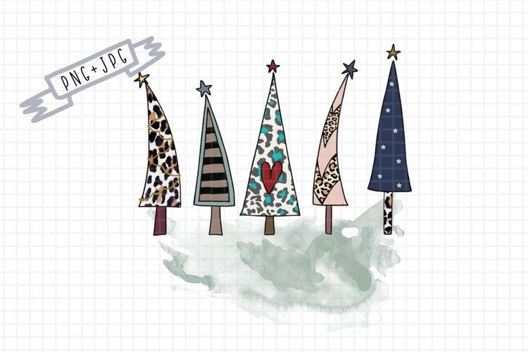 Sublimation 4 Christmas Tree-Sublimation Clipart-png decor example image 1