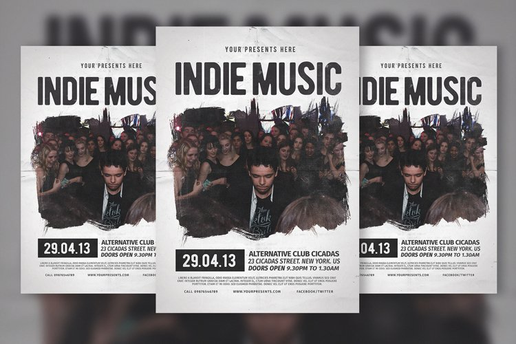 Indie Music Flyer & Poster example image 1
