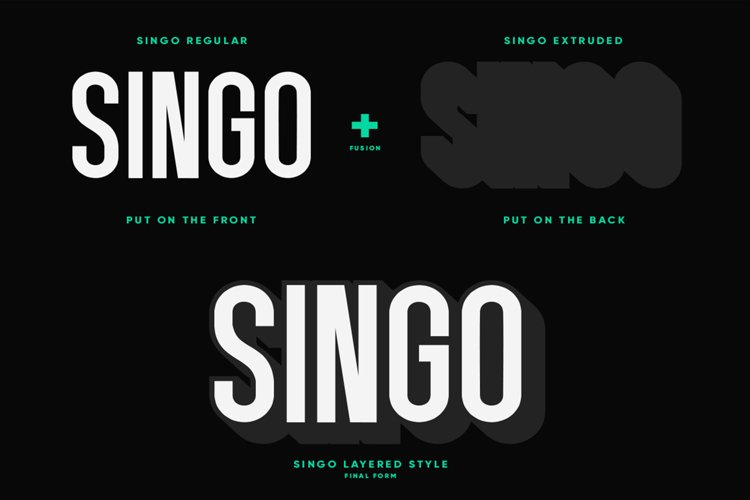 Singo - Sans Display Font example 4