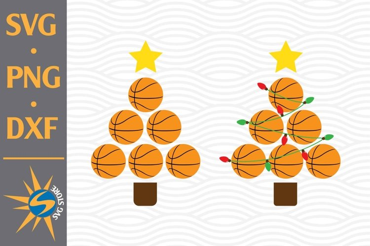 Basketball Christmas SVG, PNG, DXF Digital Files Include example image 1
