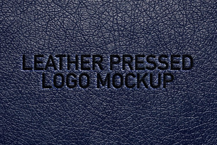 Leather Pressed Logo Mockup example image 1