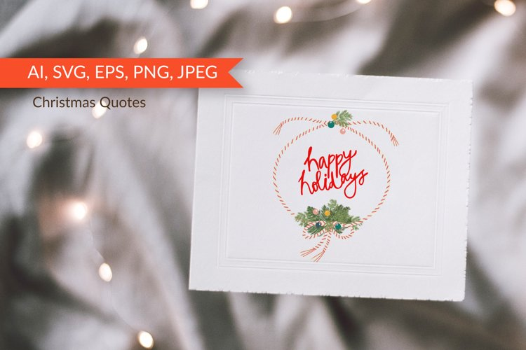 Christmas Quotes. Vector letterings.