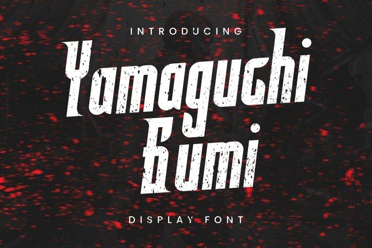 Web Font Yamaguchi Gumi Font example image 1