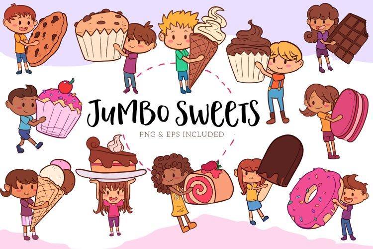 Jumbo Sweets Illustrations