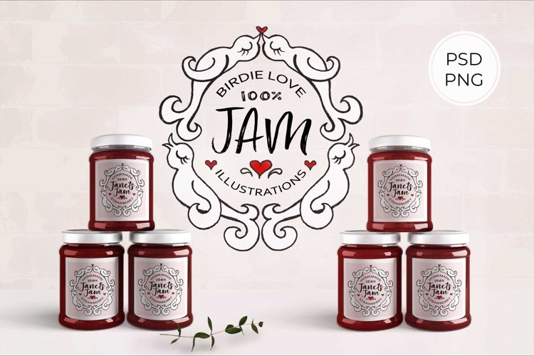 Birdie Love JAM Illustrations and Labels