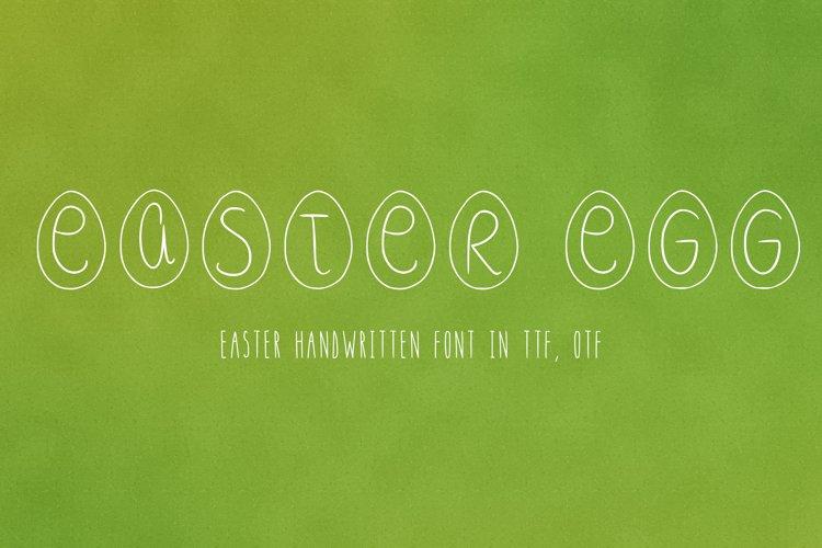 Easter egg font in ttf, otf example image 1