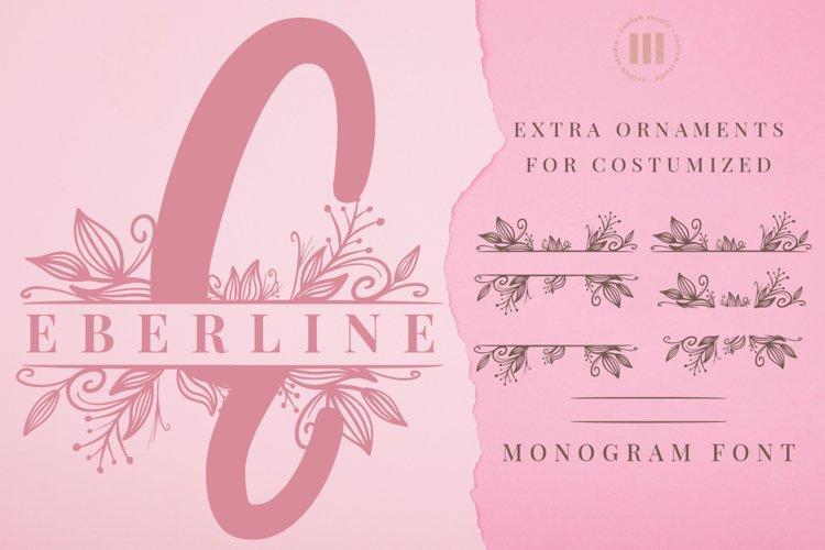 Eberline Monogram Font