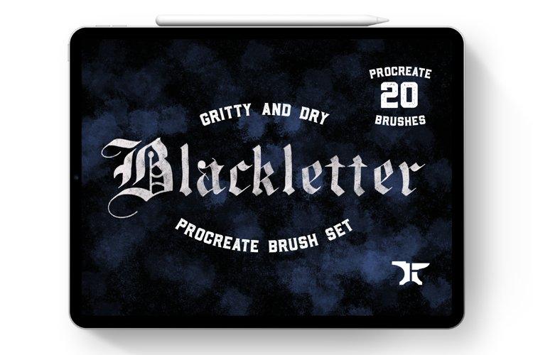 Gothic Blackletter Procreate Lettering Brush Set