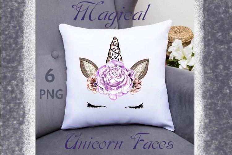 Cute Face of a Magical Unicorn, Unicorn clipart example image 1