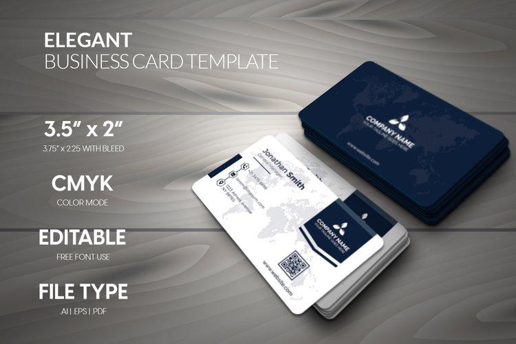 Elegant Stylish corporate business card template.