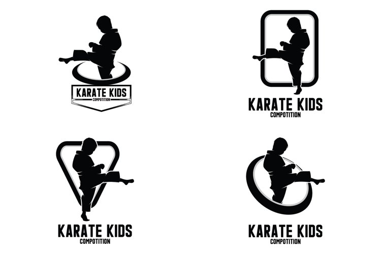 Collection of karate kids logo example image 1