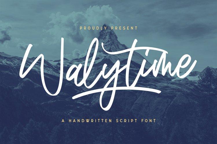Walytime - Handwritten Font example image 1