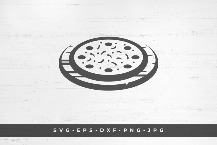 Pizza fast food silhouette vector illustration example image 1