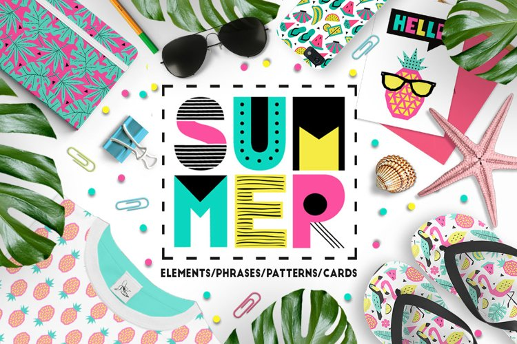 Summer graphic collection