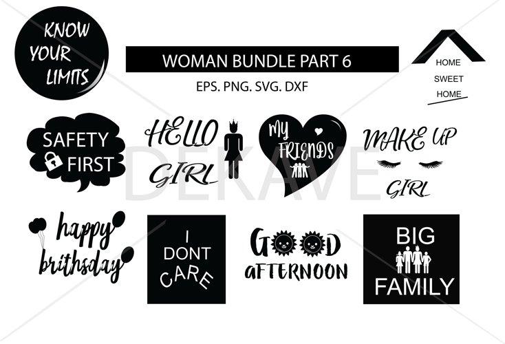 SVG Women set 5 , cutting files