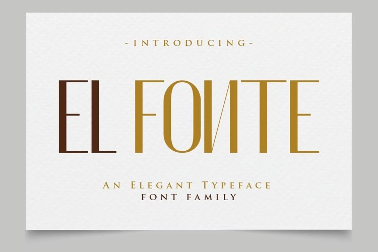 El Fónte - An Elegant Typeface Family example image 1