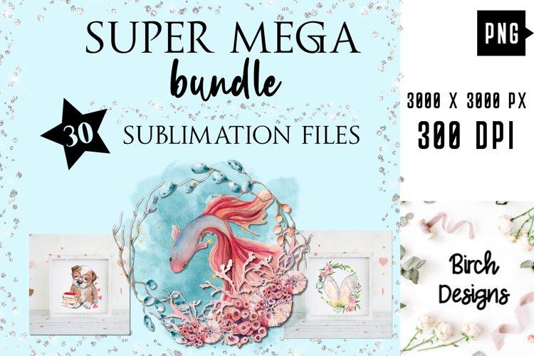 Best Sellers Sublimation PNG Bundle, Watercolor Designs