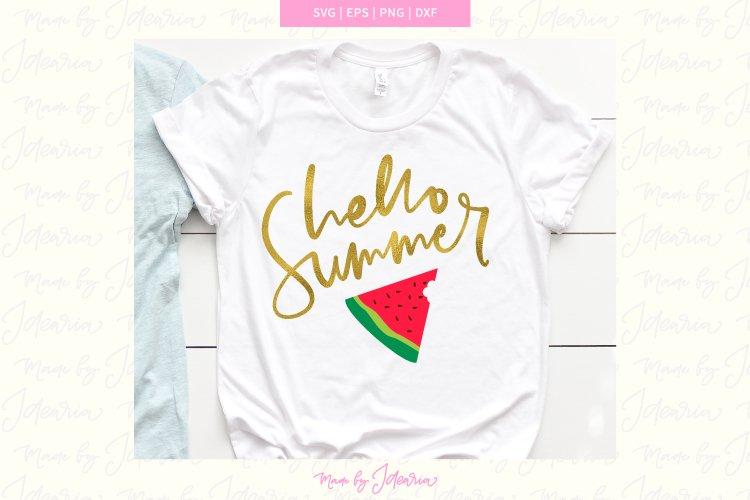 Summer svg kid, summer svg, summer svg files, watermelon svg example image 1