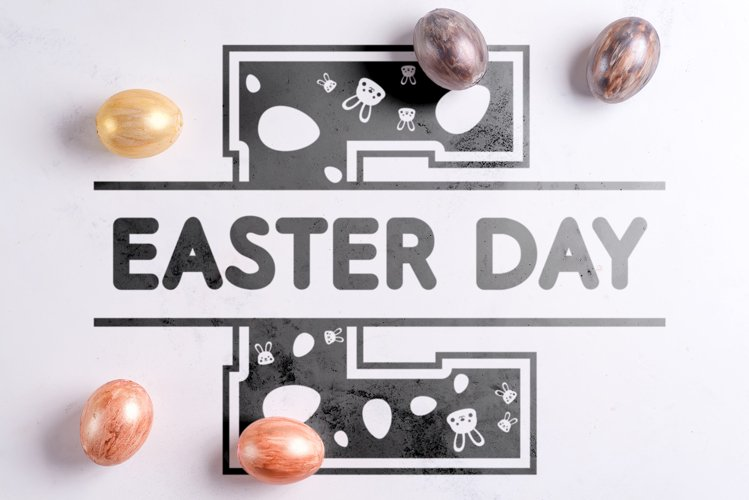 Easter Split Monogram Font example image 1