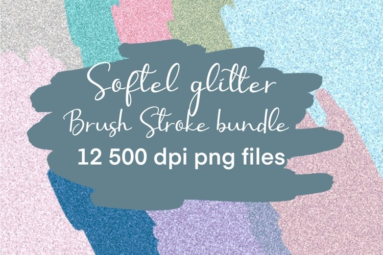 Soft Glitter Brush Stroke Backsplash Background Bundle