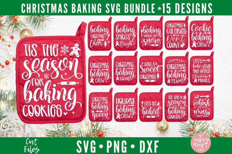 Christmas Baking SVG Bundle example image 1