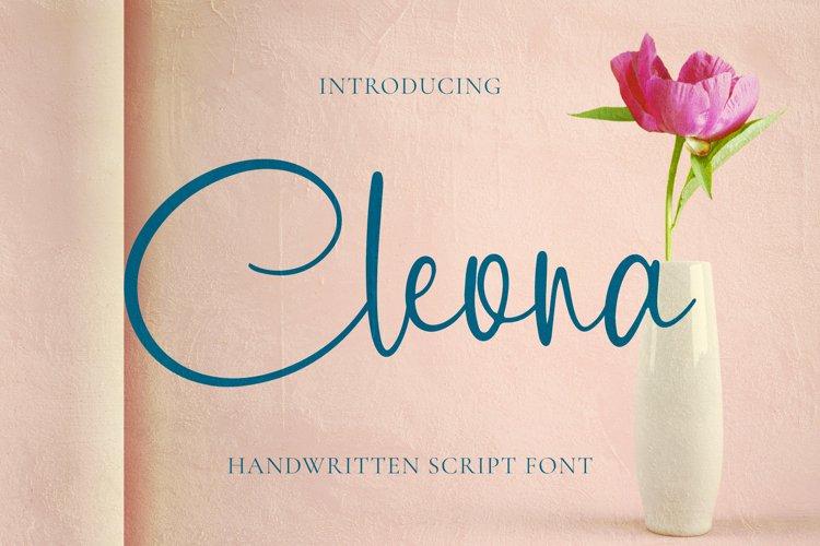 Cleona Font example image 1
