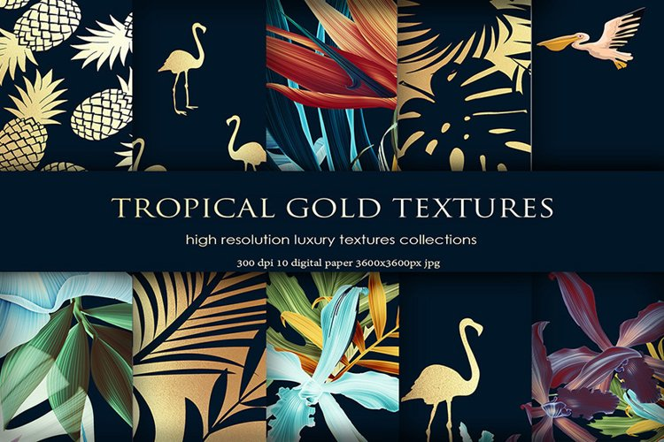 Tropical Gold Backgrounds example image 1