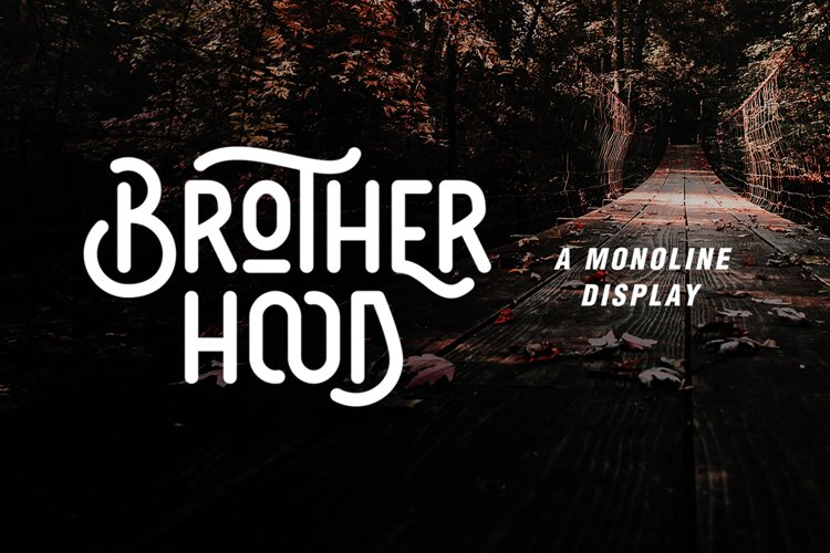 Brotherhood - Monoline Display example image 1