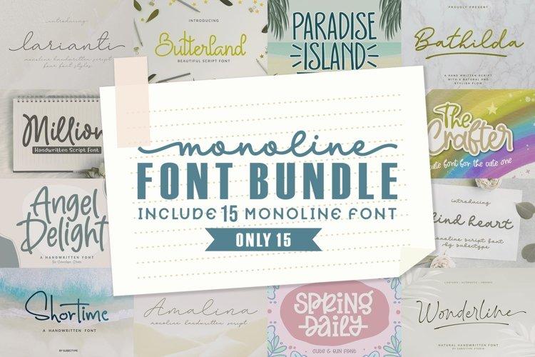 Monoline Font Bundle example image 1