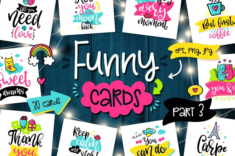 30 Funny Cards - Poster Collection! example image 1